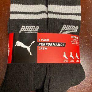 Puma Performance Crews Socks Shoe 6-12 Socks 10-13